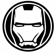 Image result for black and white iron man retro wall decal