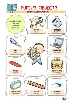 Clasa Pregătitoare : Limba engleză pentru clasa pregătitoare Learning English, Ruler, Homeschooling, Worksheets, Education, Literacy Centers, Onderwijs, Learning, Learn English