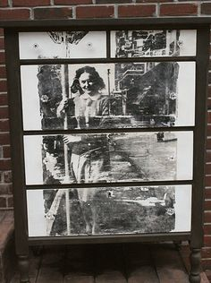 Fabulous idea for old photos - a photo dresser!