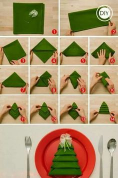 Because everyone should know how to fold a napkin into a tree
