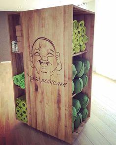 yoga mats storage - wood stock creation
