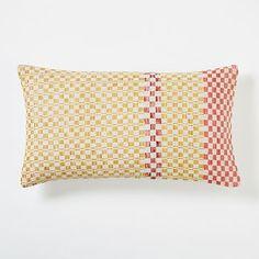 Master Dobby Dot Pillow Cover - Horseradish #westelm