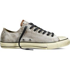 Converse by John Varvatos Leather – turkish coffee Sneakers ($140) ❤ liked on Polyvore featuring shoes, sneakers, turkish coffee, converse high tops, high top trainers, leather hi tops, leather shoes and leather trainers