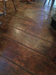 wood stamped concrete floors