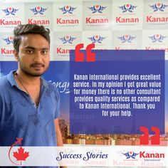 Our student Nakul Patel has received his student visa for #Canada! We wish him the very best for the future! http://kananinternational.com/
