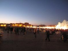 Marocco, Marrakech, very interesting not only the town itself but also the main square 'Jemaa el Fna' with its vivid market and music in the evening, the dozen 'restaurants' that are set up every day around 4 p.m. and which try to get you to eat with them. I made a small film which I will put on facebook when I have cut it.