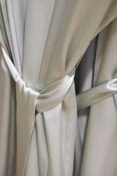 The perfect pure silk robe in the perfect colour - Sea Mist, by Willa & Mae willaandmae.com
