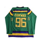 Mighty Ducks Movie Green Jersey 99 Adam Banks Hockey Jersey M L XL 2XL 3XL  Sewn 0f1b67ca4