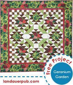 Geranium Garden Quilt A circle of nine quilt has infinite possibilities for design and creativity.