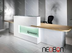 Workspaces, White Reception Desk Design With Stylish Ceramic Floor For Medical  Office Ideas: Modern Reception Desk Design To Decorate The Medical Office