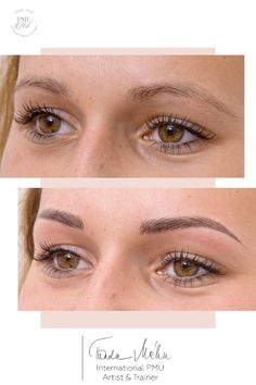 Permanent eyebrows with hair stroke and Ombré shaded techniques. Round Eyebrows, Mircoblading Eyebrows, Beauty Tips For Face, Natural Beauty Tips, Beauty Skin, Beauty Secrets, Eyeliner Tattoo, Eyebrow Tattoo, Eyebrow Pencil