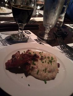 Mikkeller Chipotle Porter, smoked quail, and cranberry bacon white cheese grits