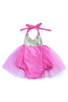 Birthday Belle Pink Glam Sparkle Romper #BelleThreadsPinterest @bellethreads