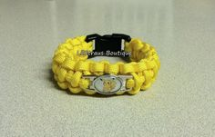 Pikachu Yellow Survival Paracord Bracelet with Shoelace Charm - Custom made with 550 paracord 550 Paracord, Small Shops, Paracord Bracelets, Hdr, Pikachu, Survival, Etsy Seller, Menu, Etsy Shop