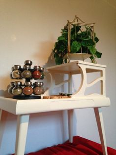 Cottage Two-Tier Side Table by TychoAndMarie on Etsy https://www.etsy.com/listing/215478202/cottage-two-tier-side-table
