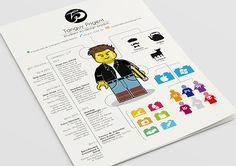 Le CV « #LEGO » d'un étudiant français en école de design.
