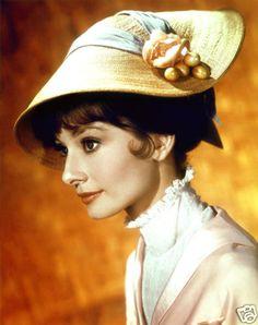 Audrey Hepburn 8x10 Image Color My Fair Lady Straw Hat | eBay