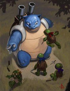 Blastoise Meets the Teenage Mutant Ninja Turtles