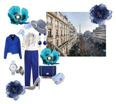 Pretty Blue!! by ajrenae07 on Polyvore featuring polyvore fashion style Peter Pilotto Balenciaga J.Crew Christian Louboutin Chanel Versace Accessorize clothing