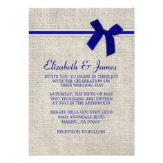 DealsRoyal Blue Rustic Burlap Wedding Invitations Personalized Invitationsso please read the important details before your purchasing anyway here is the best buy