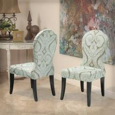 Damn, I LOVE these chairs!!!  @Overstock - The Candida Floral Taupe Chenlle Dining Chairs arrive fully assembled and ready to jazz up any room, whether it's your living room, dining room, or even bedroom.http://www.overstock.com/Home-Garden/Candida-Floral-Taupe-Chenlle-Dining-Chairs-Set-of-2/6749820/product.html?CID=214117 $280.00