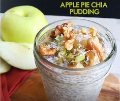 Making Apple Chia Pudding for Breakfast