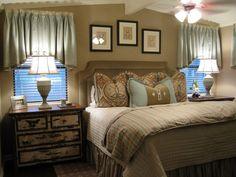 bedroom set up