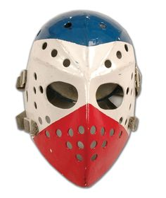 Old school mask Hockey Helmet, Hockey Goalie, Hockey Teams, Ice Hockey, Montreal Canadiens, Predators Hockey, Hockey World, Goalie Mask, Masked Man