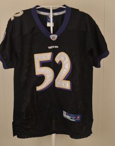 ab74b8fe903 Reebok Baltimore Ravens Jersey #52 Ray Lewis NFL Authentic Youth Medium (8)  Sewn