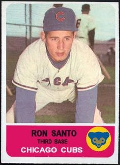 1962 Fleer (Football) Ron Santo Chicago Cubs, Baseball Cards That Never Were