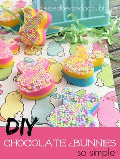 Super cute DIY chocolate bunnies! Make them today!