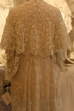 Sheelin Antique Lace Shop Irish Crochet Cape..I once had a chance to buy at auction lace created by Irish Nuns...awwww