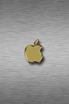 Gold Apple Wallpaper Wood