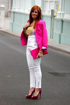 Pink Plus Belle!!  , Zara en Blazers, Plus Belle en Camisetas, Zara (new collection) en Pantalones, Christian Louboutin en Tacones / Plataformas, Cosas Cucas en Otras joyas / Bisutería
