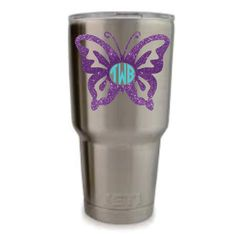 Butterfly Yeti Decal/ Yeti Tumbler Decal / by StaceyFlashyFashions