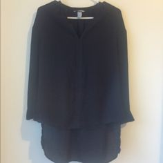 H&M high low top Very cute. Chiffon like fabric, good condition H&M Tops