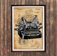 Hey, I found this really awesome Etsy listing at https://www.etsy.com/listing/289574053/typewriter-decor-vintage-poster