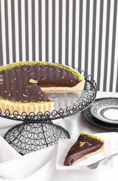 The Best Sea Salted Chocolate-Caramel Tart from Sprinkle Bakes