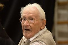 Former Nazi death camp officer Oskar Groening waits for the start of his trial in the German city of Lueneburg, on April 21, 2015