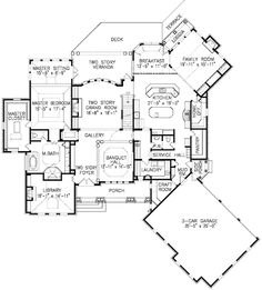 English manor home plan tudor house plans - salvabrani Dream House Plans, House Floor Plans, My Dream Home, Dream Homes, Plan Design, Home Design, Design Ideas, European House, European Style
