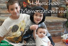 Challenging Kid's Minds with Memorization ~ A weekly homeschool project ~ www.oneshetwoshe.com