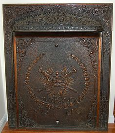 Cast Iron Fireplace Surround With Summer Cover Gorgeous