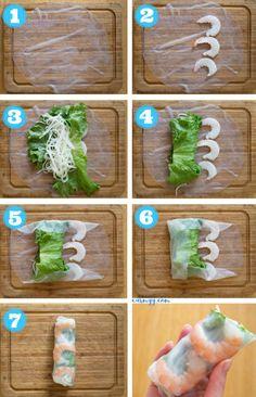 Rouleaux de crevettes au papier de riz vietnamien,  #crevettes #papier #rouleaux #vietnamien