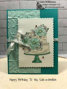 Happy Birthday to You (SAB), Parisian Flourish EB Folder, Stampin' Blends, Sweety Stitched Dies, Birthday Cake Card, Happy Birthday Cakes, Slider Card, Happpy Birthday, Birthday Boys, Fun Fold Cards, Stamping Up Cards, Flower Cards, Homemade Cards