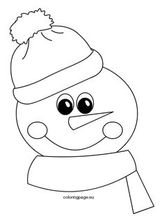 Winter - Coloring Page