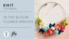 How To Knit a Decorative Flower Wreath | Easy Knitting Pattern - YouTube Easy Knitting Patterns, Free Knitting, Baby Knitting, Metal Crafts, Diy And Crafts, Rose Lily, Knitted Flowers, Learn How To Knit, Easy Crochet
