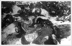 Klooga, Estonia, Corpses that were prepared for burning by Commando 1005 1944.