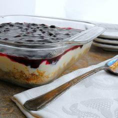 Blueberry Cream Dessert with Pretzel Crust #FreshFromFlorida