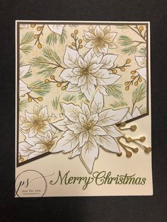 """Laura Milligan, Stampin' Up! Demonstrator - I'd Rather """"Bee"""" Stampin!: Bee Creative Free Tutorial: Poinsettia Petals Card"""