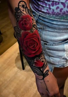 Lace Tattoos for Women Lace is one of iconic ornaments for females on their garments, costume or wedding dress. Lace tattoo is naturally favorite choice for women to create Forearm Tattoos, Body Art Tattoos, New Tattoos, Hand Tattoos, Tatoos, Gemini Tattoos, Basic Tattoos, Tattoos Pics, Side Tattoos